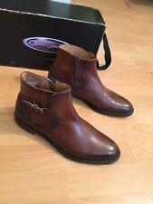 Oliver Sweeney  Lurani Tan Leather Antiqued Jodhpur Boot Uk 8,RRP £349
