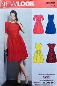 Modern FITTED & FLARED TEA DRESS Sewing Pattern SIZE 8-18 (NL6391) UNCUT