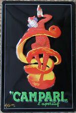 CAMPARI - Vintage Advert - Embossed Metal Sign
