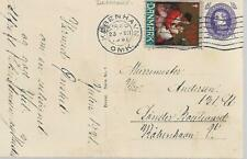 DENMARK 1931 POSTCARD FROM COPENHAGEN WITH TWO STAMPS MY REF 658
