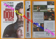 film VHS  ABOUT A BOY UN RAGAZZO Hugh Grant 2003 Universal SIGILLATA(F129)no dvd