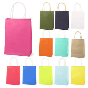 Luxury Bright Paper Wedding Favours Birthday Party Gift Bag W/ Handles Loot Bag