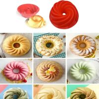 Silicone Cupcake Cookies Pan Pudding Pastry Bakeware Cake Baking Tray Mold Top