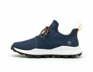 Timberland Mens Brooklyn Oxford Trainers Navy Blue