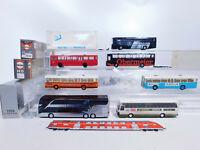 CR97-1# 7x Herpa/Rietze/AWM H0/1:87 Bus: MAN + Setra + MB AMG/Obermeier sehr gut