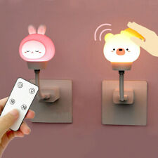 Cartoon LED USB Night Light Night Lamp Remote Control Baby Bedroom Decors Kid