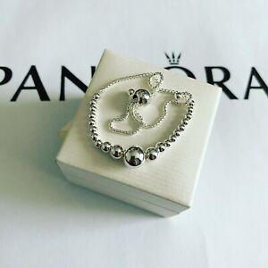 Pandora Silver String Of Beads Slider Bracelet (ALE S925)
