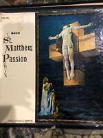 SCHERCHEN bach st. matthew passion 4 LP VG+ XWN 4402 Vinyl  Record