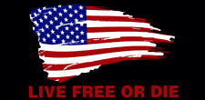 Wholesale Lot of 6 Live Free Or Die USA Flag Black Tactical Bumper Sticker