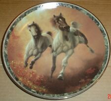 Bradford Exchange Collectors Plate AUTUMN RENEGADES - GALLOPING GLORY