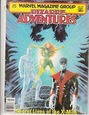 BIZARRE ADVENTURES #27 1981 B&W PHOENIX,NIGHT-CRAWLER,ICEMAN App/X-MEN..VG/VG-