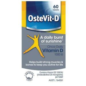 Brand New OsteVit D 60 Tablets VITAMIN D D3 1000IU - Sent from Sydney