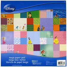 NEW Disney Mega Scrapbook paper Pad 150 sheet Princess Peter Pan Bambi Lion King