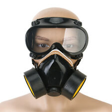 Industrial Gas Chemical Anti-Dust Paint Respirator Mask +Eye Glasses Goggles