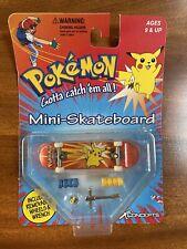 Vintage NRFP Pokemon Pikachu Finger Mini-Skateboard XConcepts 1999 Nintendo