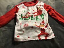 B31 Elf on the Shelf 2 Piece Pajama Set Baby/Toddler Boys Size 4T Red New