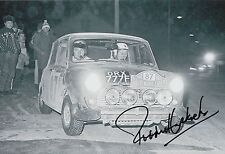 Paddy Hopkirk Hand Signed 12x8 Photo Mini Cooper Rally 17.