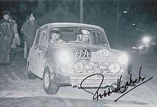 Paddy Hopkirk Hand Signed 12x8 Photo Mini Cooper Rally 17.