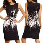 Women Lady Summer Bandage Bodycon Floral Evening Party Cocktail Short Mini Dress
