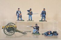 CONTE AMERICAN CIVIL WAR 5 x UNION OFFICER DRUMMER SOLDIERS & CANNON nu