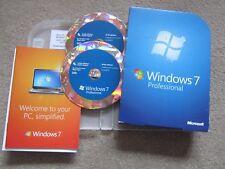 Windows 7 Professional 32/64 bit DVD Product Key COA Full Retail Version