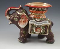 EGYPTIAN REVIVAL MORIYAMA, JAPAN, MORIAGE ELEPHANT ASHTRAY, LARGE