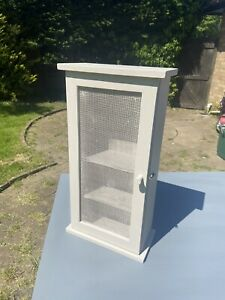 Vintage rustic Kitchen  Wall spice Cupboard / display cabinet.