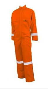 Mens Coverall Wenaas Orange Hip-Zip NON FIRE RESISTANCE REFLEX 54TL*JJ