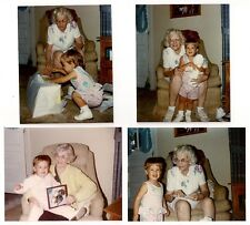 Grandma with Little Toddler Girl Vintage 1980's Photographs Lot of (4)