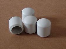 19mm White Rubber Puntali Sedia/Tavolo Gamba Piedi/TAPPI X 4