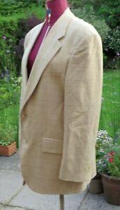 RALPH LAUREN Brown Silk & Wool  Dogtooth Single Breasted Jacket 40R