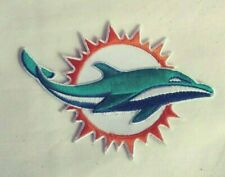 """MIAMI Dolphins Patch,  New,  4.25"""" - Iron On, Good Gift!!  FREE Shipping, USA"""