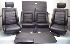 VW Golf 1 Cabrio en cuir synthétique housses pour la décoration intérieure sièges Noir A