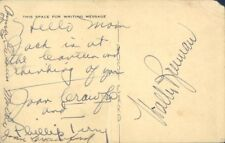 JOAN CRAWFORD - AUTOGRAPH NOTE ON PICTURE POSTCARD SIGNED WITH CO-SIGNERS