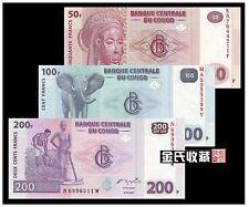 Congo 50 100 200  Francs (UNC) 全新 刚果 50 100 200 法郎