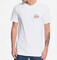 Quiksilver Mens T-Shirt White Size Large L Fadded Sea Graphic Tee $25- #164