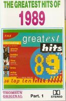 Various – The Greatest Hits Of 1989..   music cassette. Import