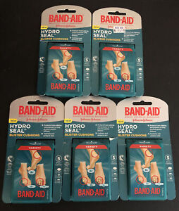 Lot of 5 Band-Aid Hydro Seal Blister Cushions - 25 Total Cushions, New