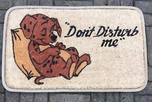 """Coir Doormat. Dog with """"DO NOT DISTURB"""".Rubber Backed Deluxe Quality"""