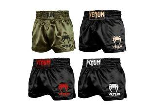 Venum Muay Thai Shorts Classic Schwarz Olive Thaiboxen Kampfsport Short Hose