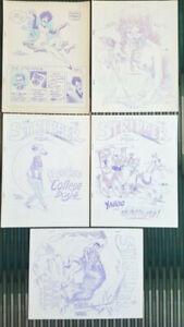 RARE ~ The Stripper #1 - 5 SET Biljo White Fanzine For Strip Collectors 1964-74