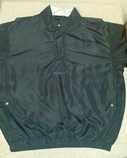 Mens Medium Dryjoys by FootJoy Black short sleeve golfing pullover with pockets