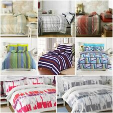 Luxury 100% Cotton Printed Duvet Bedding Sets With Pillowcases Double King Sizes
