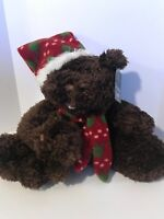 """ANIMATED SINGING CHRISTMAS BEAR WITH CUB; MOUTH MOVES-- """"JINGLE BELLS"""": NWT"""
