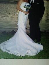 WEDDING GOWN, STRAPLESS BY ALFRED ANGELO - $950