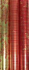 Pack of 3 x 2M Rolls Foil Xmas Christmas Wrapping Paper Foil Gift Wrap or Tags