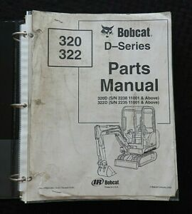 GENUINE BOBCAT 320 322 SKID STEER LOADER TRACTOR PARTS CATALOG MANUAL COMPLETE