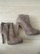 TAUPE SUEDE ANKLE BOOTS SUPERTRASH UK 6 TOWIE CLUB PARTY XMAS CELEB PRETTY GLAM