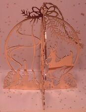 1986 Danbury Mint Gold Christmas Ornament Santa's Sleigh Reindeer