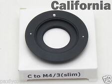 SUPER SLIM C Mount Lens to Micro 4/3 m4/3 mount Adapter G1 GH1 GF1 EP-1 DMC
